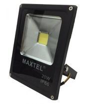 Refletor Holofote Super Led - 20W - Branco Frio - Maxtel -