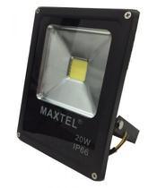 Refletor Holofote Super Led - 20W - Branco Quente - Maxtel -