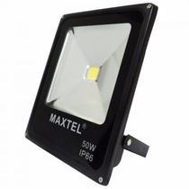 Refletor Holofote Super LED - 50W - Branco Frio - Maxtel -