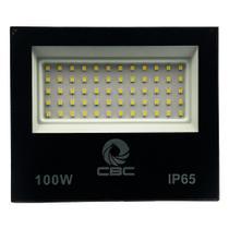 Refletor Led 100W Holofote Branco Frio Bivolt Prova D' Água - Cbc