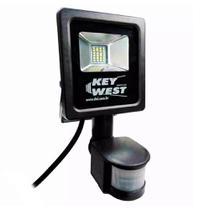 Refletor LED 10w 6000k com Sensor de Presença Bivolt Preto 6038 DNI -