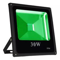 Refletor Led Holofote 30w Verde Bivolt Ip65 - Iluminação Residencial Jardim Piscina Loja - Importado