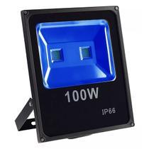 Refletor Led Holofote Azul 100w Bivolt Ip65 - Pronta Entrega - Importado