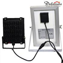 Refletor  Led Slim Solar Com Placa E Sensor 10w 6000k - America Light