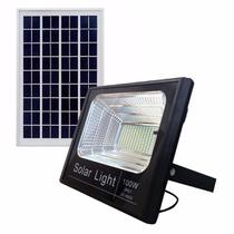 Refletor LED Solar 100W Branco Frio - Kit Led