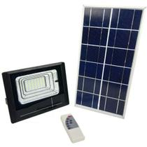 Refletor Luminaria Solar 25w holofote Placa Sensor Bateria Energia - Economia Solar