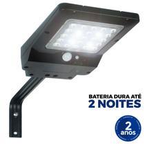 Refletor Luminária Solar Integrada Pública LED 400 Lúmens Placa Completa Ecoforce 40W -
