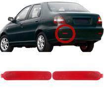 Refletor Olho de Gato Parachoque Traseiro Siena Fire 2001 2002 2003 2004 2005 2006 2007 Esquerdo - Dsc