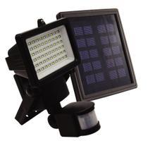 Refletor solar 60 leds com sensor de movimento luz branca 6000K - Ecoforce