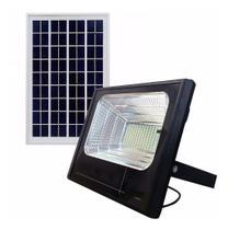 Refletor Solar Luminaria 25w holofote kit Placa Sensor Energia led - Economia Solar