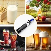 Refratômetro 0 A 32% Vv Álcool Teor Alcoólico Vinhos Bebidas - Lca