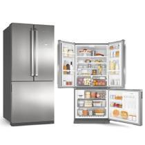 Refrigerador Brastemp Side Inverse 3Portas 540L FF Inox 127V -
