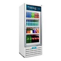 Refrigerador de Vitrine Metalfrio 509 Litros, VF55AL, Dupla Ação, Porta de Vidro, Branco -