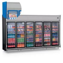 """Refrigerador/Expositor """"TOP"""" Vertical Gemini GEVT 6 Portas Gelopar -"""