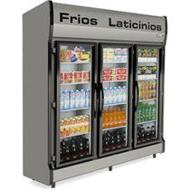 Refrigerador/Expositor Vertical AS-3/E Auto Serviço 3 Portas Conservex -