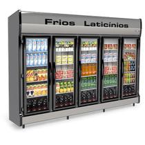 Refrigerador/Expositor Vertical AS-5/E Auto Serviço 5 Portas Conservex -
