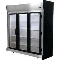 Refrigerador/Expositor Vertical Auto Serviço 3 Portas ACFM 1450L Preto Fricon -