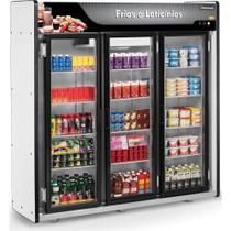 Refrigerador/Expositor Vertical Auto Serviço Frios e Laticínios 3 Portas  ASFL Plus Refrimate -