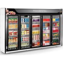 Refrigerador/Expositor Vertical Auto Serviço Frios e Laticínios 5 Portas  ASFL Plus Refrimate -