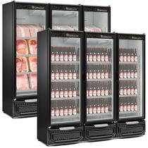 Refrigerador/Expositor Vertical Conveniência Cerveja E Carnes GCBC-1450 PR Preto Gelopar 1498 Litros Frost Free -