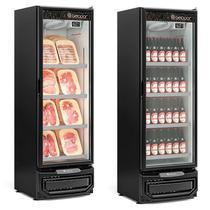 Refrigerador/Expositor Vertical Conveniência Cerveja E Carnes GCBC-45 PR Preto Gelopar 445 Litros Frost Free -