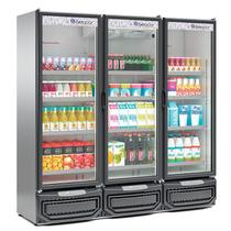 Refrigerador/ Expositor Vertical Conveniência GCVR-1450 TI Tipo Inox  1468 Litros Gelopar -