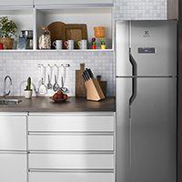 Refrigerador Frost Free Inox 371L Electrolux DFX41 127V -