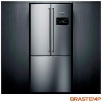 Refrigerador Side Inverse Brastemp de 03 Portas Frost Free com 540 Litros Painel Eletrônico Inox - BRO81AR -