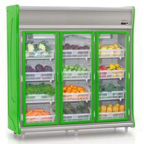 Refrigerador Vertical Hortifrutícula GEHF-3P Gelopar 3 Portas Frost Free 1490 Litros -