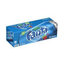 Refrigerante fanta blueberry caixa com 12 latas (355ml) -