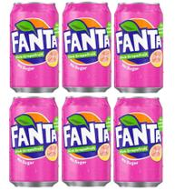 Refrigerante fanta grapefruit - toranja caixa 6 latas 355ml -
