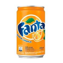 Refrigerante Fanta Laranja lata Mini com 12 unidades de 220ml -