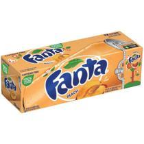 Refrigerante fanta peach - pêssego caixa com 12 latas 355ml -