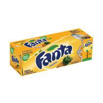 Refrigerante fanta pineapple caixa com 12 latas (355ml) -