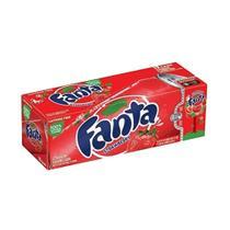 Refrigerante fanta strawberry caixa com 12 latas (355ml) -