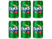 Refrigerante Lata Fanta Guaraná 6 Unidades - 220ml