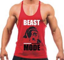 Regata Cavada Beast Mode Academia Fitness Masculina - The Camisetas