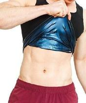 Regata Masculina Queima Gorduras Barriga Camiseta Sauna - Não Informada