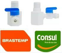 Registro Adaptador Conector Torneira Purificador Consul e Máquinas Bebidas B Blend W10727681 - Brastemp Consul