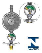 Registro De Gás C/ Visor Medidor Manômetro Valvula Regulador - Imar