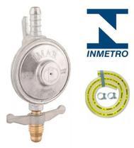 Registro regulador de gás domestico Imar com mangueira 1,25cm 0728/05 -