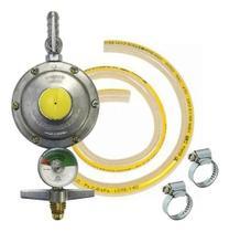 Registro Regulador De Gás Fogão Visor Indicador Mang 1,5 Mts - Aliança / Usicom