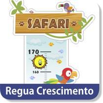 6f25efdf4 Régua Crescimento Safari Animais Zoo Adesivo Decorativo