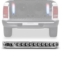 Régua de Som Slim Para Central Mini 33 LEDs 5W VU AJK Sound Azul - Ajk Eletronics