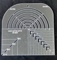 Régua Gabarito Curva Quadrado Caixa Leite Canto Mitrado 20cm - Lanmax