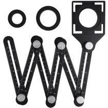 Régua Universal De Liga de Aluminio Medidora Ângulo Ajustável Para Furos Porcelanatos Corte - Getit Well