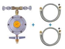 Regulado Duplo 2 Registro 1/2 Gás Forno Cooktop c/ mangueira - Aliança