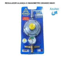 Regulador aliança c/ manometro grande 506/01 - Todas As Marcas