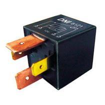 Relé auxiliar 4 terminais 12v 80a2 largos relé selado, com resistor, com suporte - Dni