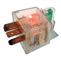 Relê auxiliar universal caneca acrílico 5 terminais com suporte/fusível/led 40a - Dni